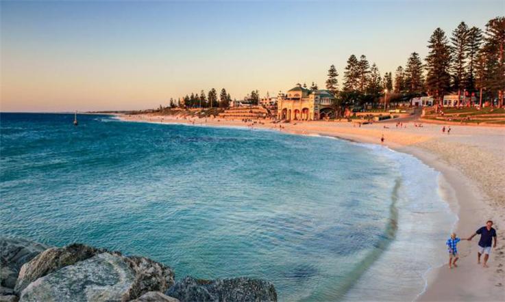 【澳大利亚汇款中国】澳大利亚的宠儿—人间天堂珀斯—珀斯海滩景色|熊猫速汇Pandaremitbosi