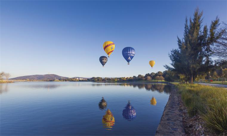 【澳大利亚汇款中国】澳大利亚政治中心下的魅力城市:堪培拉—堪培拉湖景|熊猫速汇Pandaremit