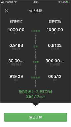 【跨境汇款中国】践行世行倡议,熊猫速汇用金融科技改变香港汇款方式—价格比较